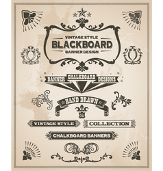 Vintage retro banner and ribbon set vector image vector image