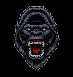 a colorful gorilla head vector image