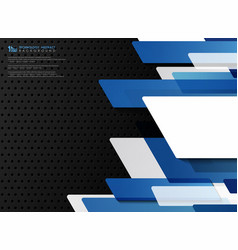 abstract gradient blue template technology vector image