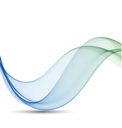 Abstract wave background blue and green vector