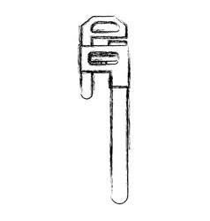 adjustable wrench tool vector image