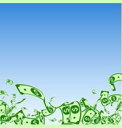 american dollar notes falling messy usd bills vector image
