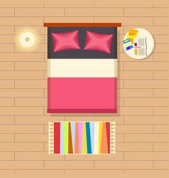 Bedroom interior decor vector
