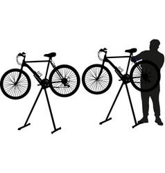 bicycle repairman vector image