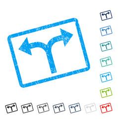 Bifurcation arrows left right icon rubber vector