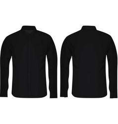 black long sleeve shirt vector image