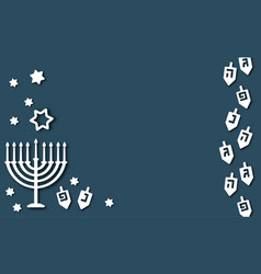 Blue hanukkah background vector