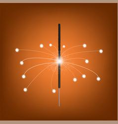 Burning indian light sparkler vector