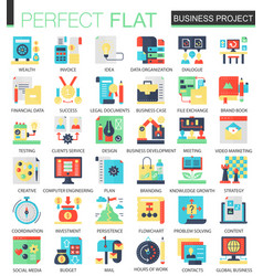 Business finance project complex flat icon vector
