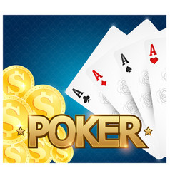 cards and game chips for playing poker vector image