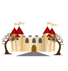Castle And Trees vector