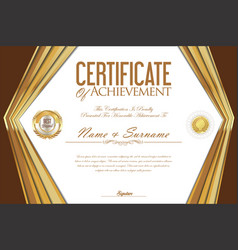 certificate or diploma retro design template 3 vector image