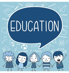 Child with a education ispeech bubble vector