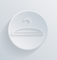 circle icon with a shadow hanger vector image