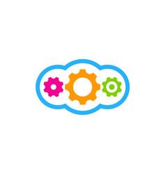 cloud gear logo icon design vector image