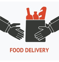 concept for delivery food vector image vector image