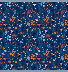 Cute seamless pattern with hand drawn berries and vector