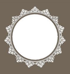 decorative lace style border 0508 vector image