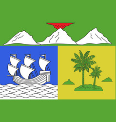 flag of saint-denis in reunion vector image