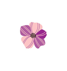 flat abstract green plant phlox flower icon vector image