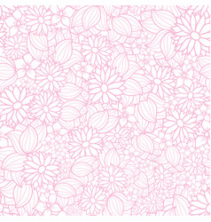 floral texture pattern in pink and white vector image