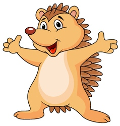 Funny porcupine cartoon vector image