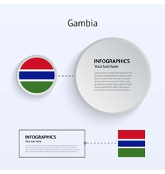 Gambia Country Set of Banners vector