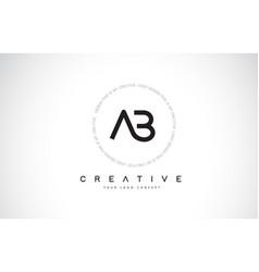 Ge g e logo design with black and white creative vector