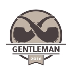 Gentlemens hipster icon logo badge vector image