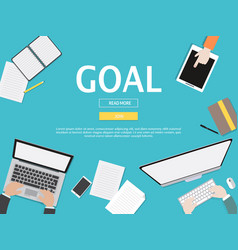 goal graphic for business concept vector image