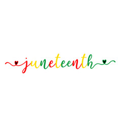 hand sketched colorful juneteenth word as banner vector image