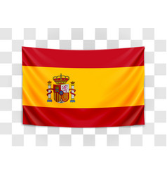 hanging flag spain kingdom spain national vector image