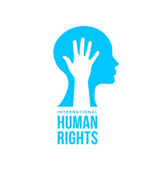 International human rights card people equality vector