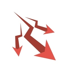 Isolated decrease arrow design vector