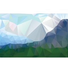 Landscape in a minimalist style vector