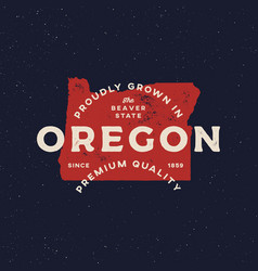 local farm retro grunge badge homegrown in oregon vector image