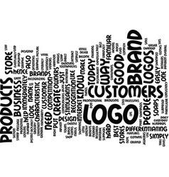Logo design text background word cloud concept vector