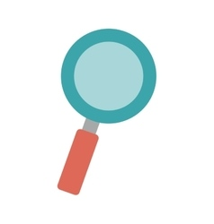 Magnifying glass with red base vector