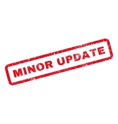 Minor Update Rubber Stamp vector