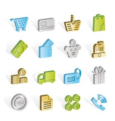 online shop icons vector image