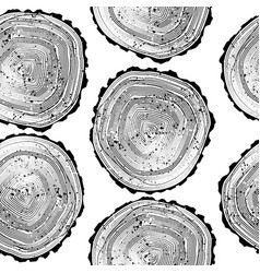 Pattern with tree black and white rings background vector