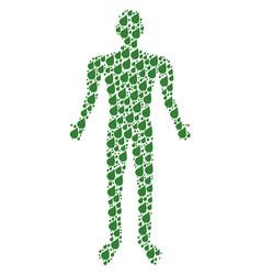 plant leaf human figure vector image