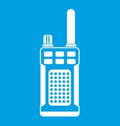 portable handheld radio icon white vector image