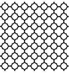 Quatrefoil seamless pattern background in black vector
