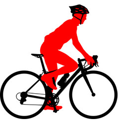 Race bicyclist silhouette vector