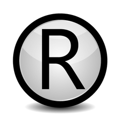 Registered Trademark - icon vector image