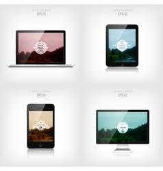 Responsive web design Adaptive user interface vector image