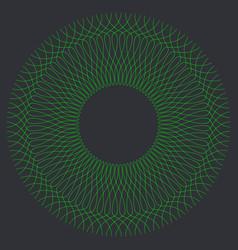 Round guilloche pattern vector
