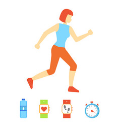 Running woman weight loss vector