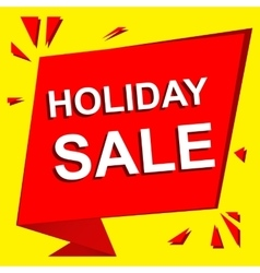 Sale poster with holiday sale text advertising vector